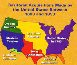 Land Acquisitions United States History - Us land acquisition map